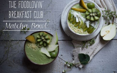 Matcha Bowl – Smoothie Bowl mit grünem Tee.