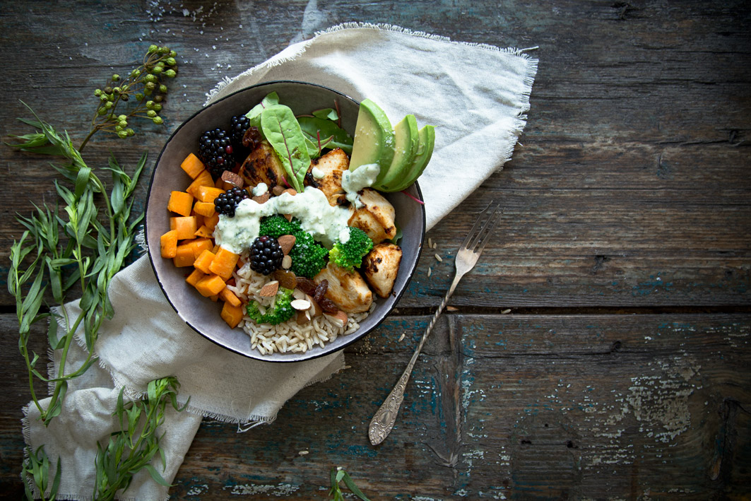 gesunde superfood bowl