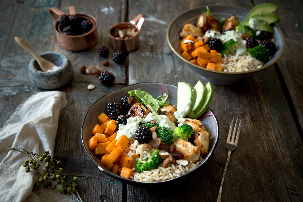 rezept für gesunde superfood bowl zum mittagessen