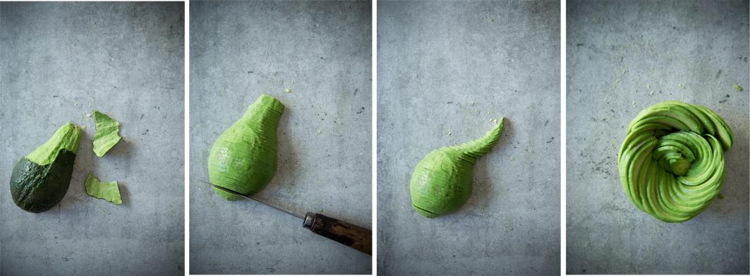 anleitung avocado rose