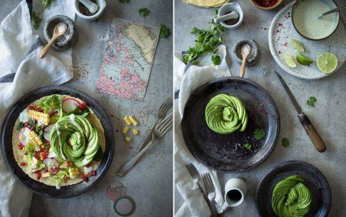 Anleitung für eine Avocado-Rose und ein Rezept für Avocado-Salat.