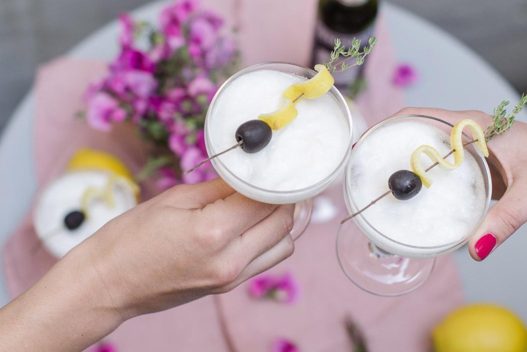 französischer cocktail mit champagner