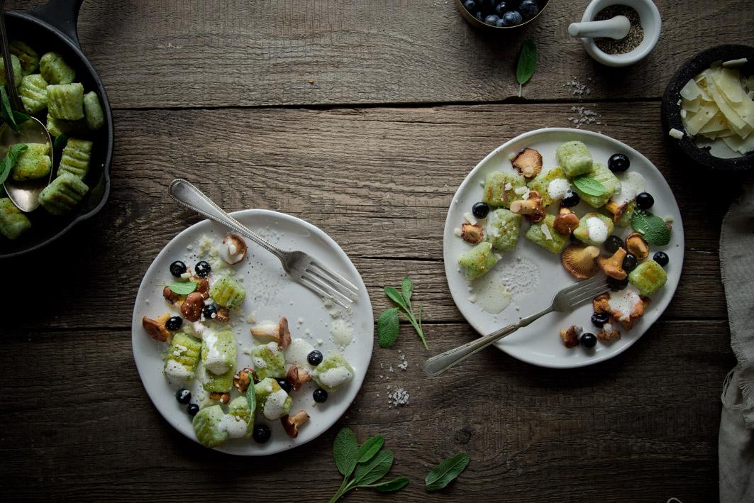 gnocchi mit salbei und pfifferlingen