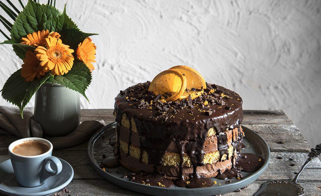 Schokoladen-Orangen-Torte von Freiknuspern