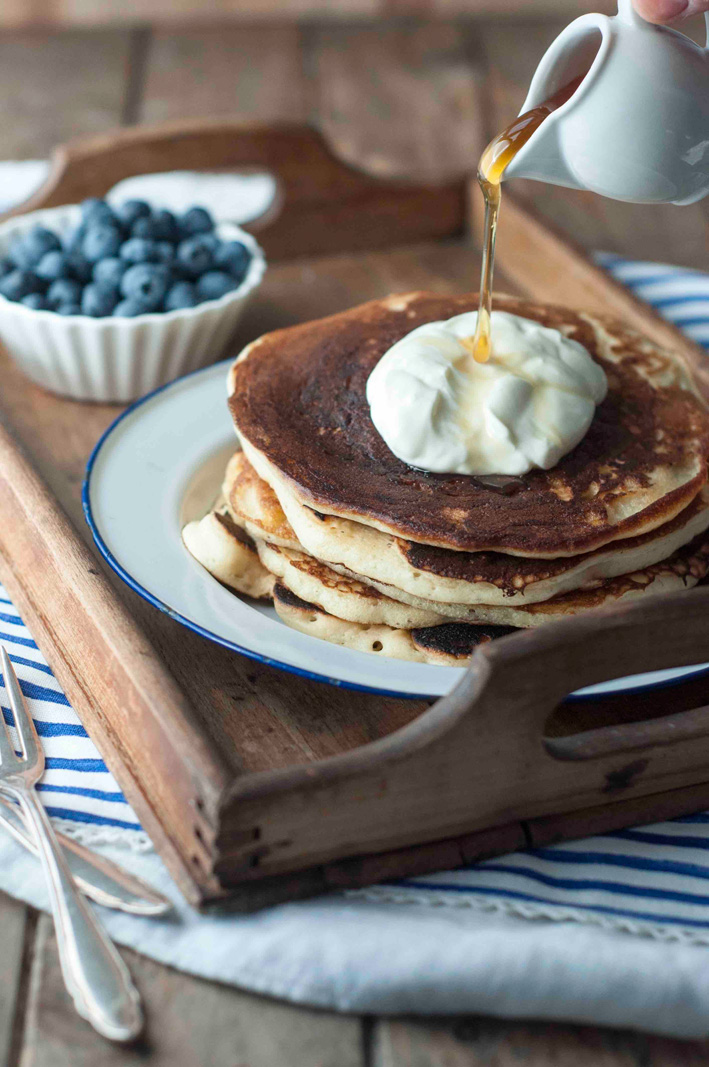 pancakes mit joghurt