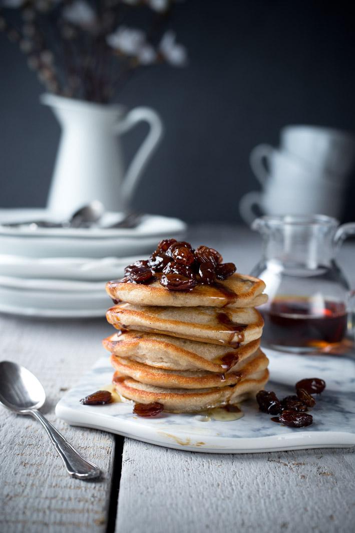 pancakes mit rosinen