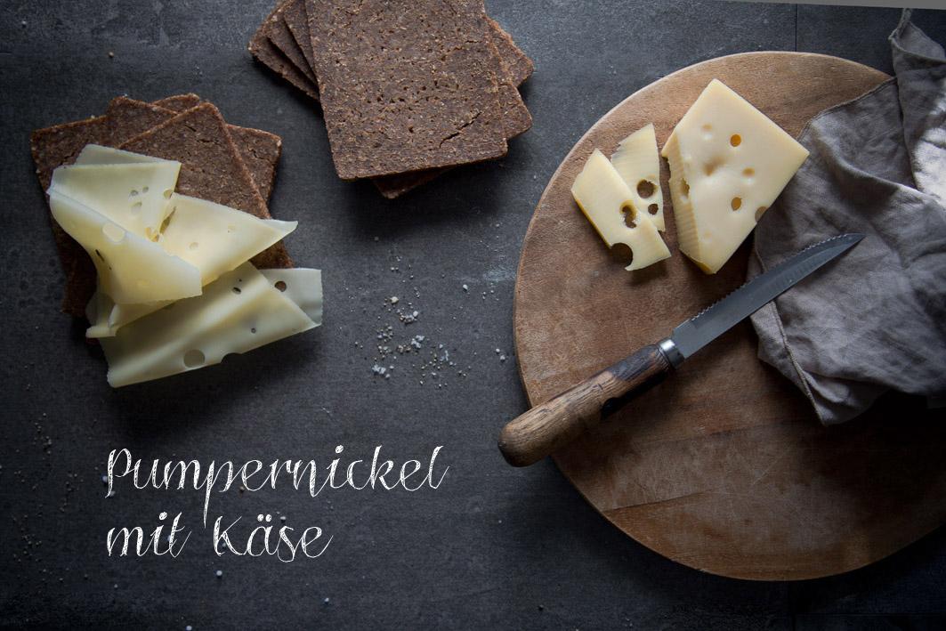 pumpernickel mit käse