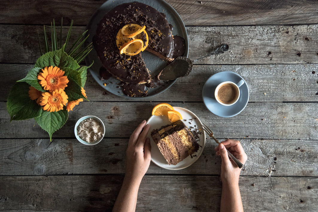 glutenfreie schoko orangen torte
