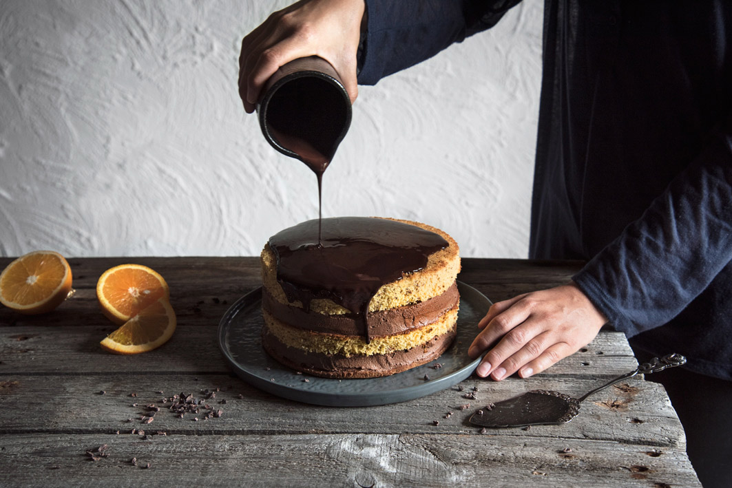 schokoladenglasur auf tortea