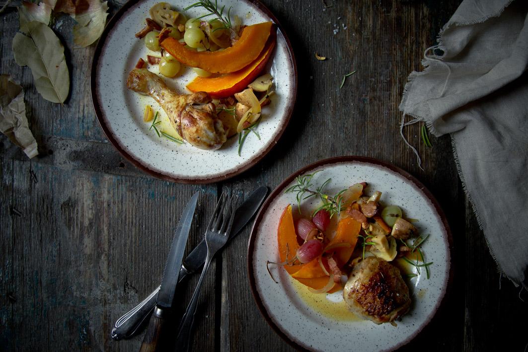 hühnereintopf mit kürbis