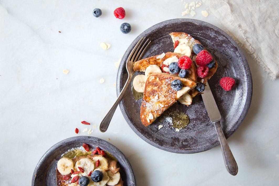 glutenfreies süßes frenchtoast