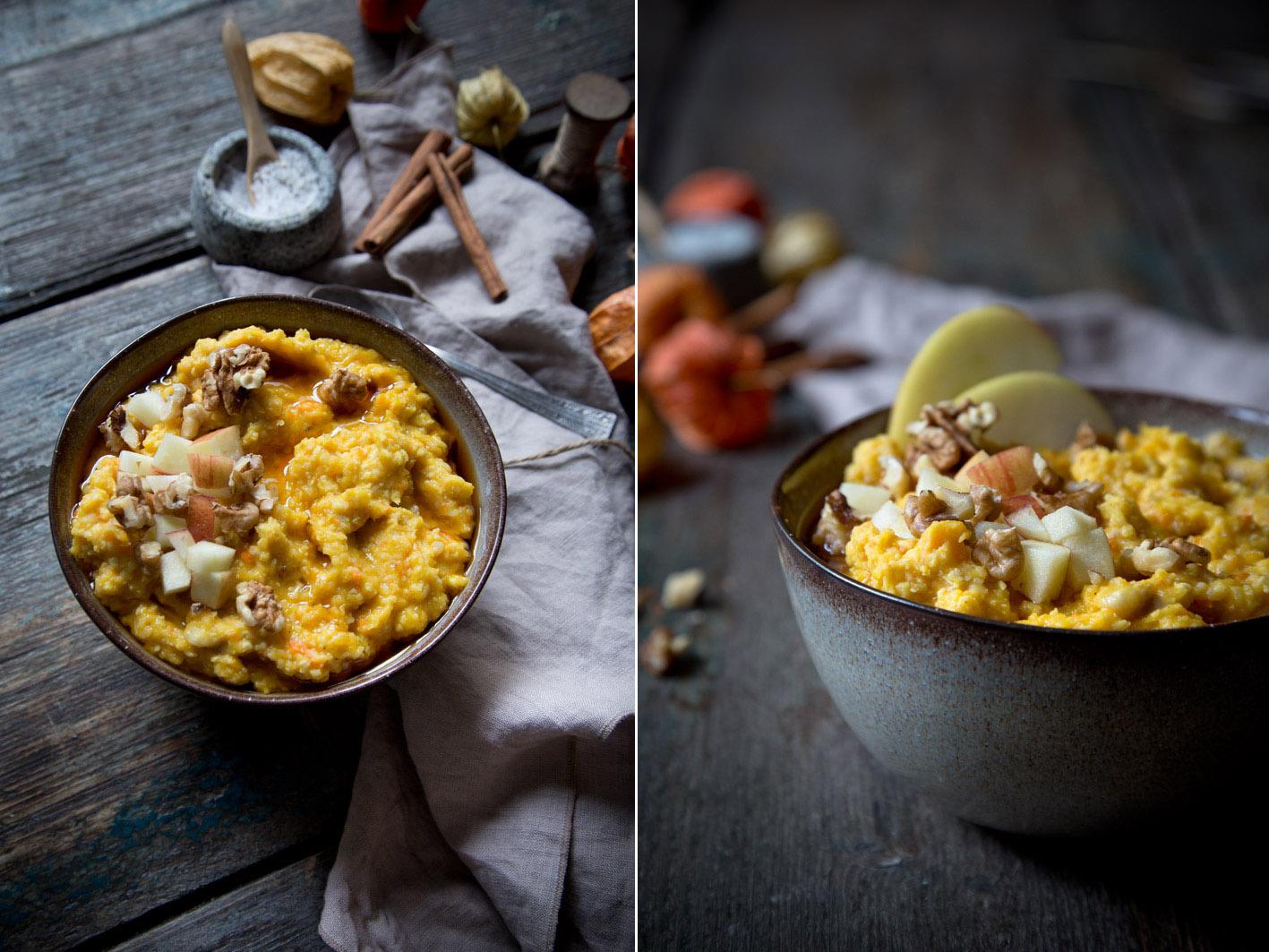 frühstück hirse porridge
