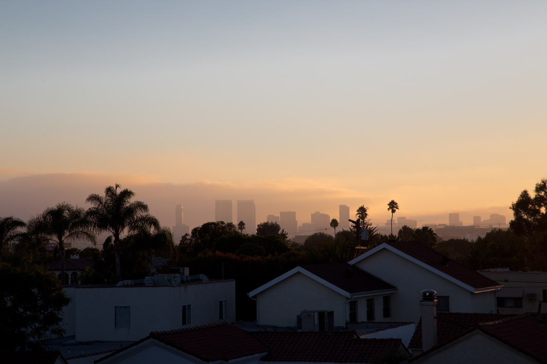 sonnenuntergang in los angeles