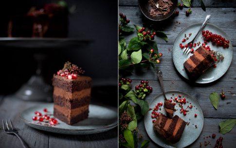 Schokoladen-Torte mit der genialsten Schokoladencreme der Welt aus nur zwei Zutaten.