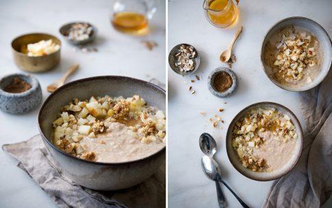 Apfelkuchen Smoothie Bowl – Apfelkuchen zum Löffeln.