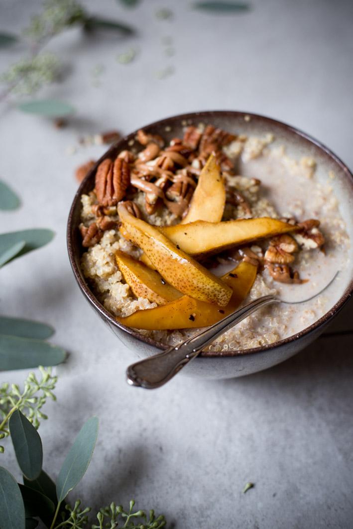 quinoa mit birnen