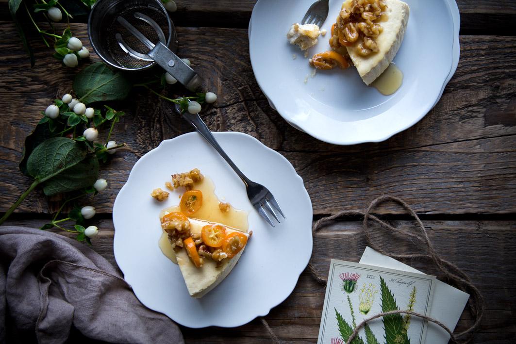 walnuss ahornsirup cheesecake