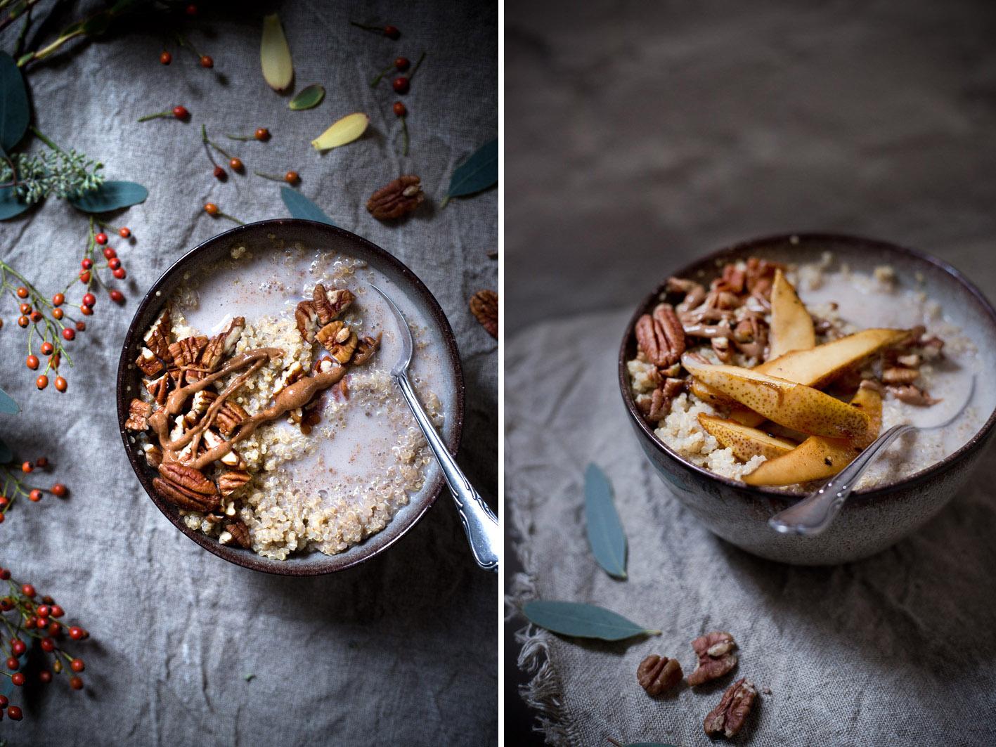 gekochter quinoa mit mandelmilch