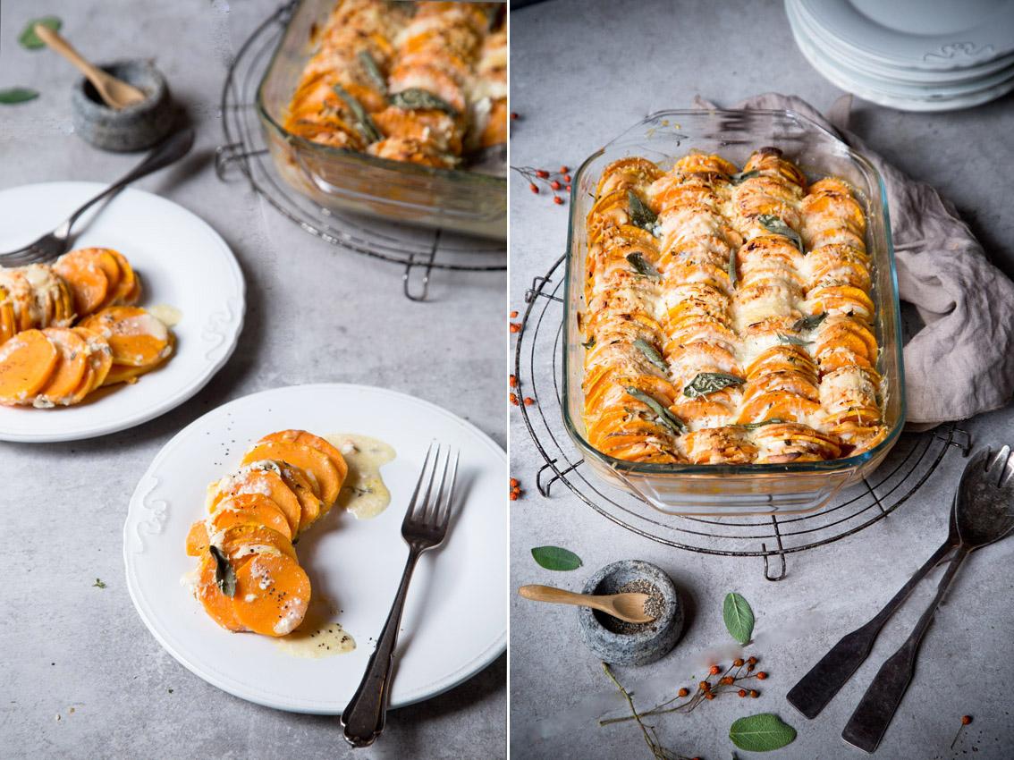 suesskartoffeln gratiniert