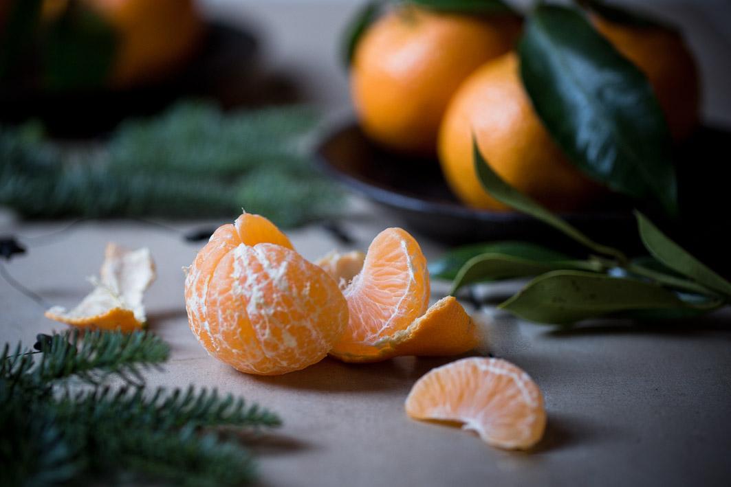 gluehwein mit mandarine