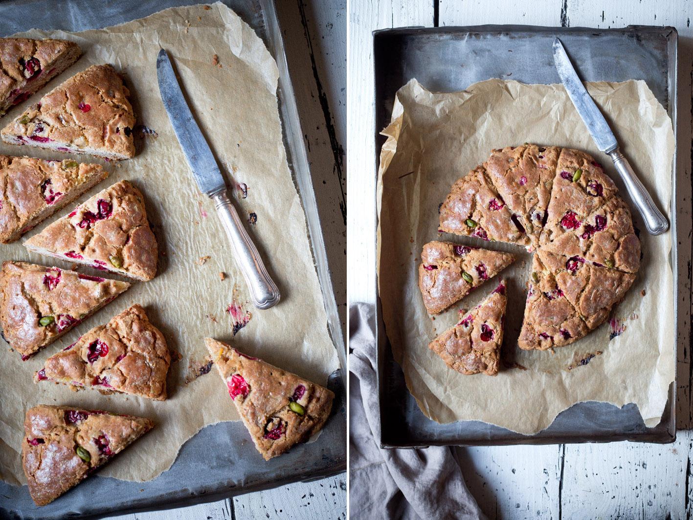 glutenfreie scones mit cranberries