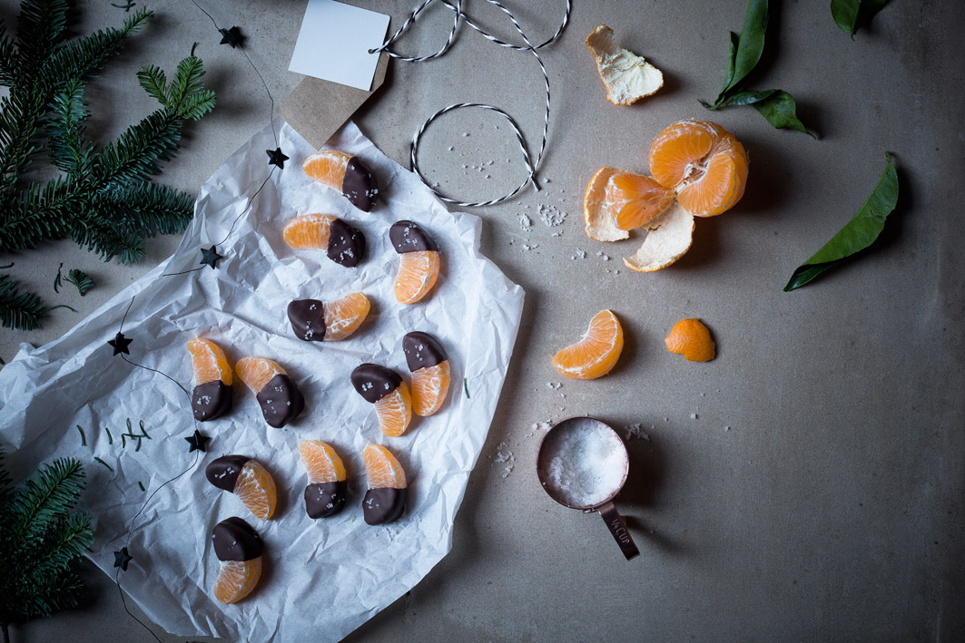 mandarinen mit Schokolade