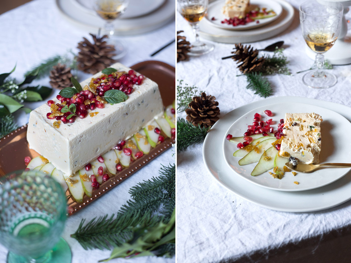 weihnachtsmenue dessert