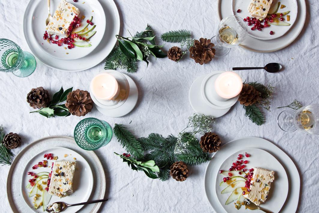 dessert für das weihnachtsmenue