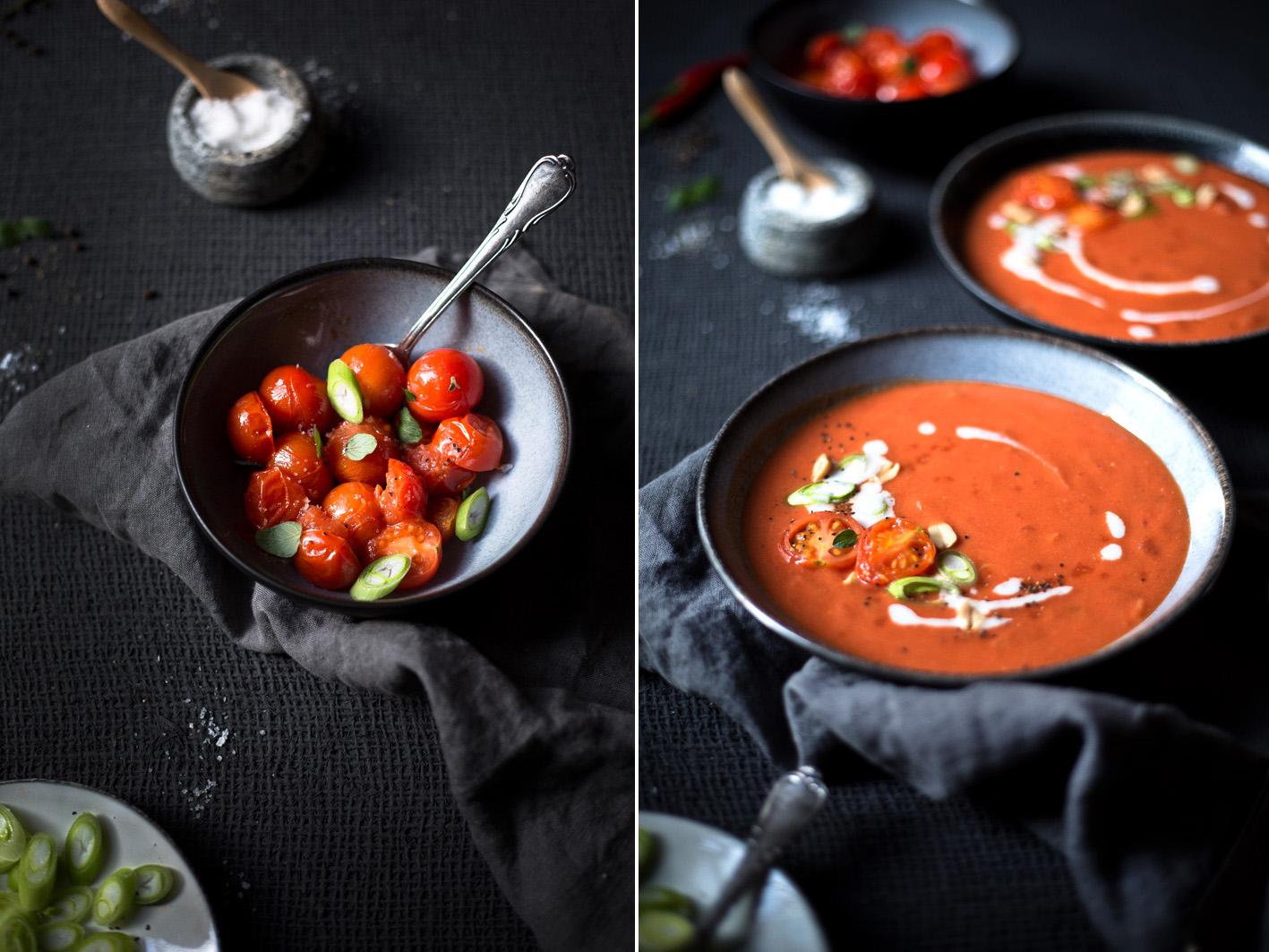 Tomatensuppe mit Kokosmilch