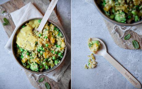 Rezept für Curry-Quinoa-Salat. Quinoa forever!
