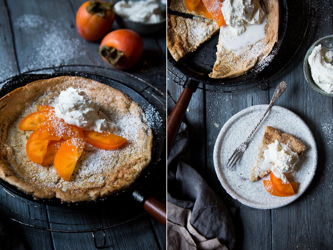 Kokos Pfannkuchen aus dem Ofen