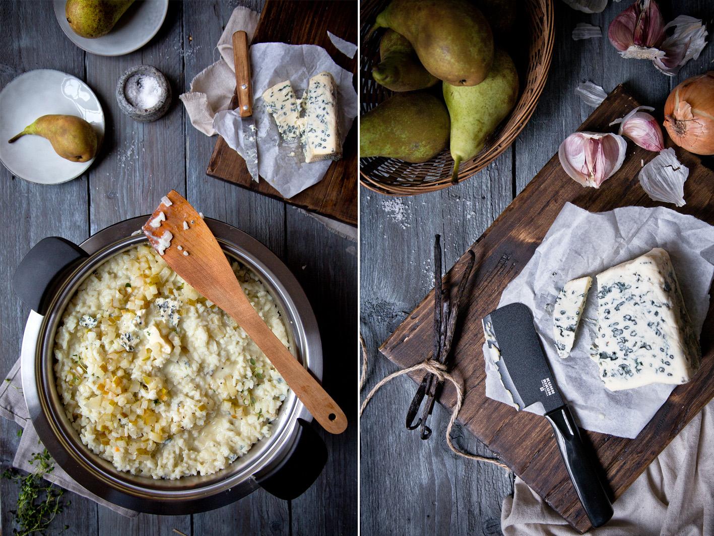 Risotto mit Gorgonzola und Vanille