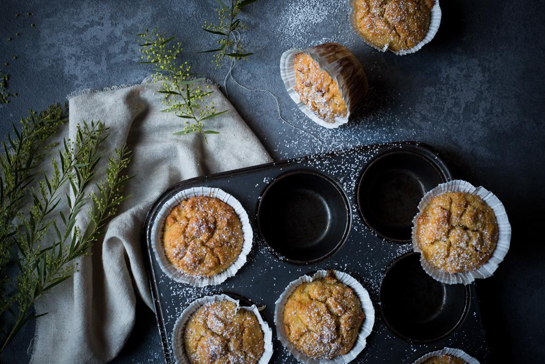 Saftige Orangenmuffins mit gesunden Zutaten