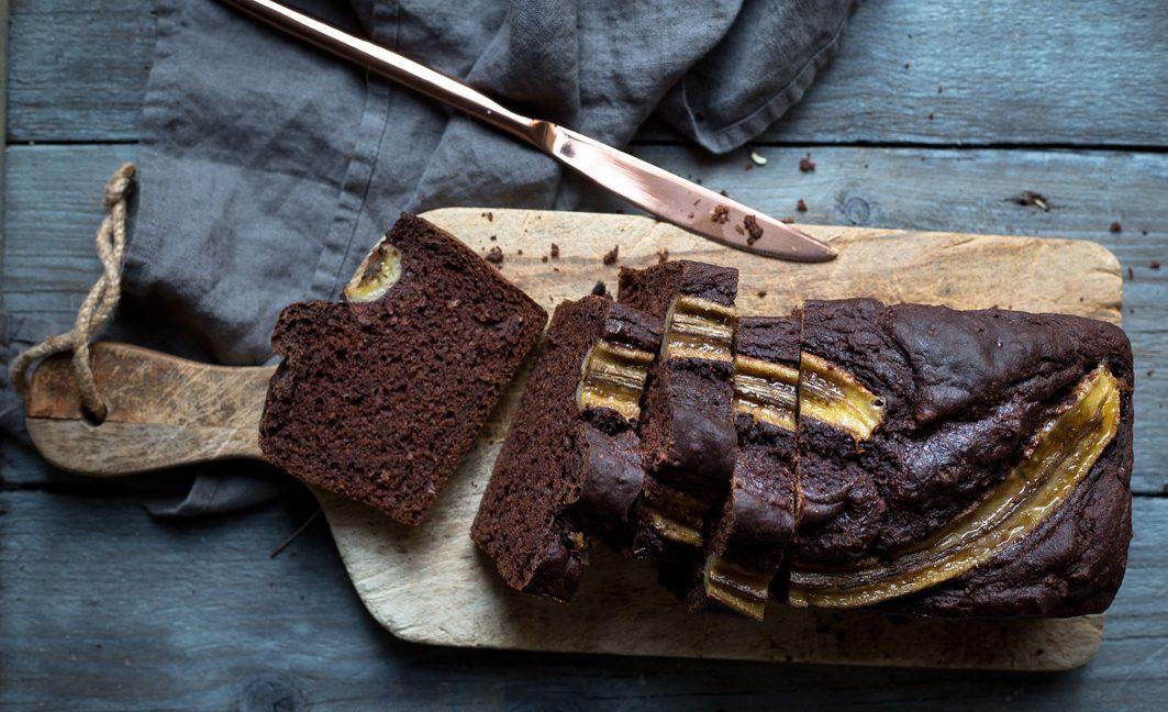 Saftiges Schokoladen-Bananenbrot
