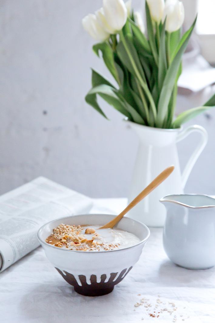 Cremiges Oatmeal zum Frühstück