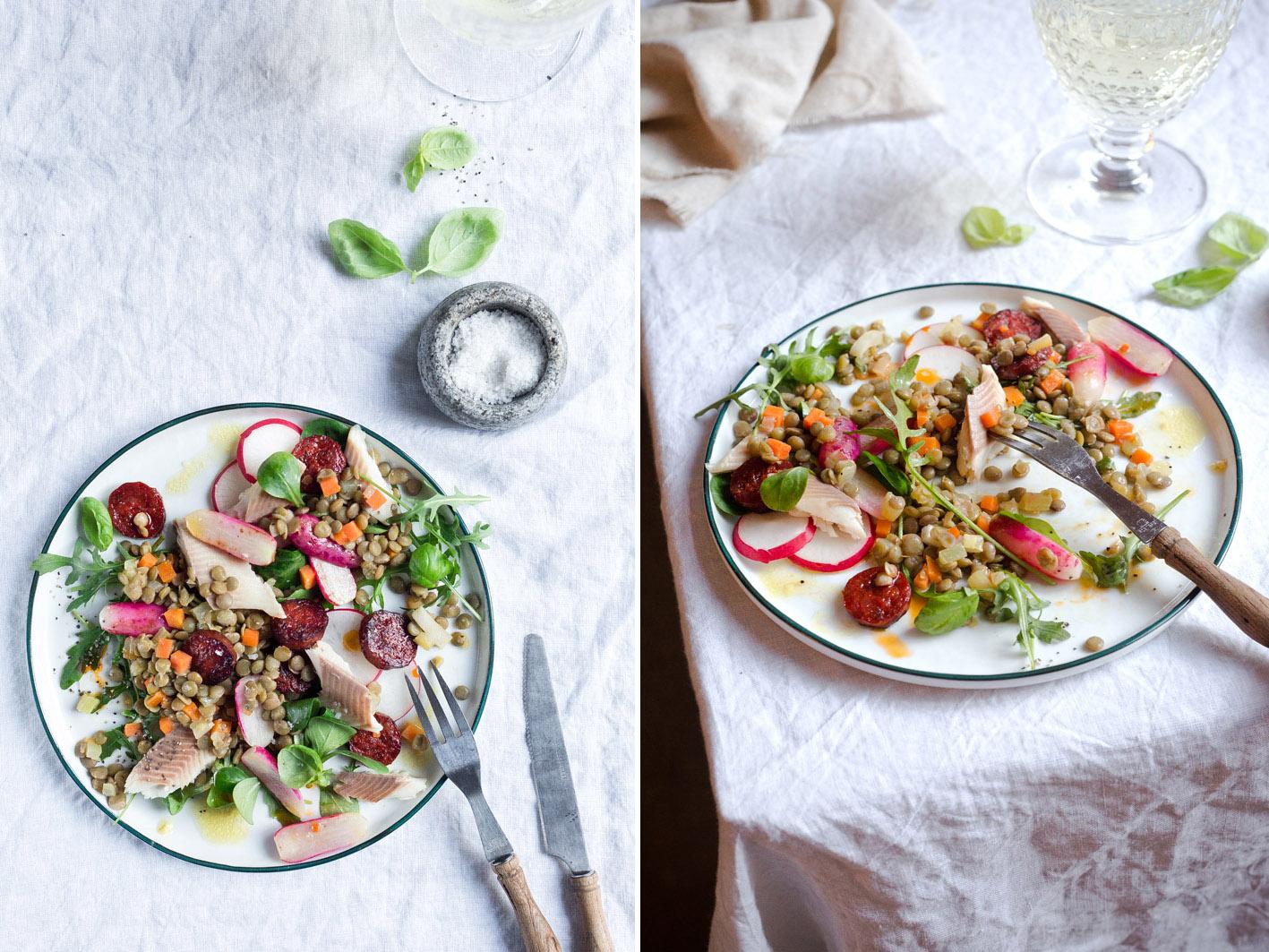 Linsen Radieschen Salat