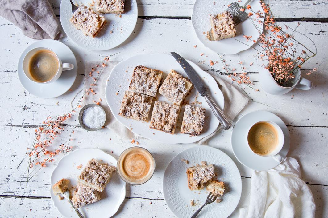Quark-Streuselkuchen zum Kaffee