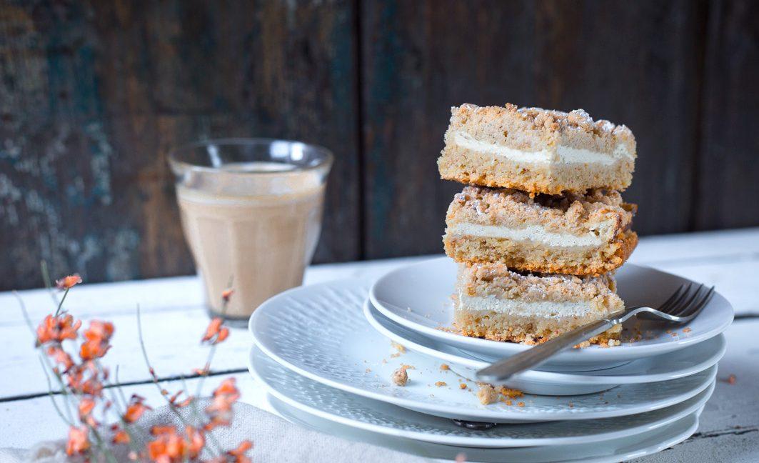 Quark-Streusel-Kuchen zum Kaffee.