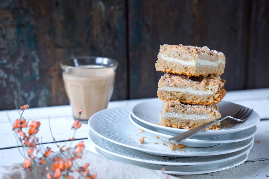 Streuselkuchen mit Quark aus gesunden Zutaten