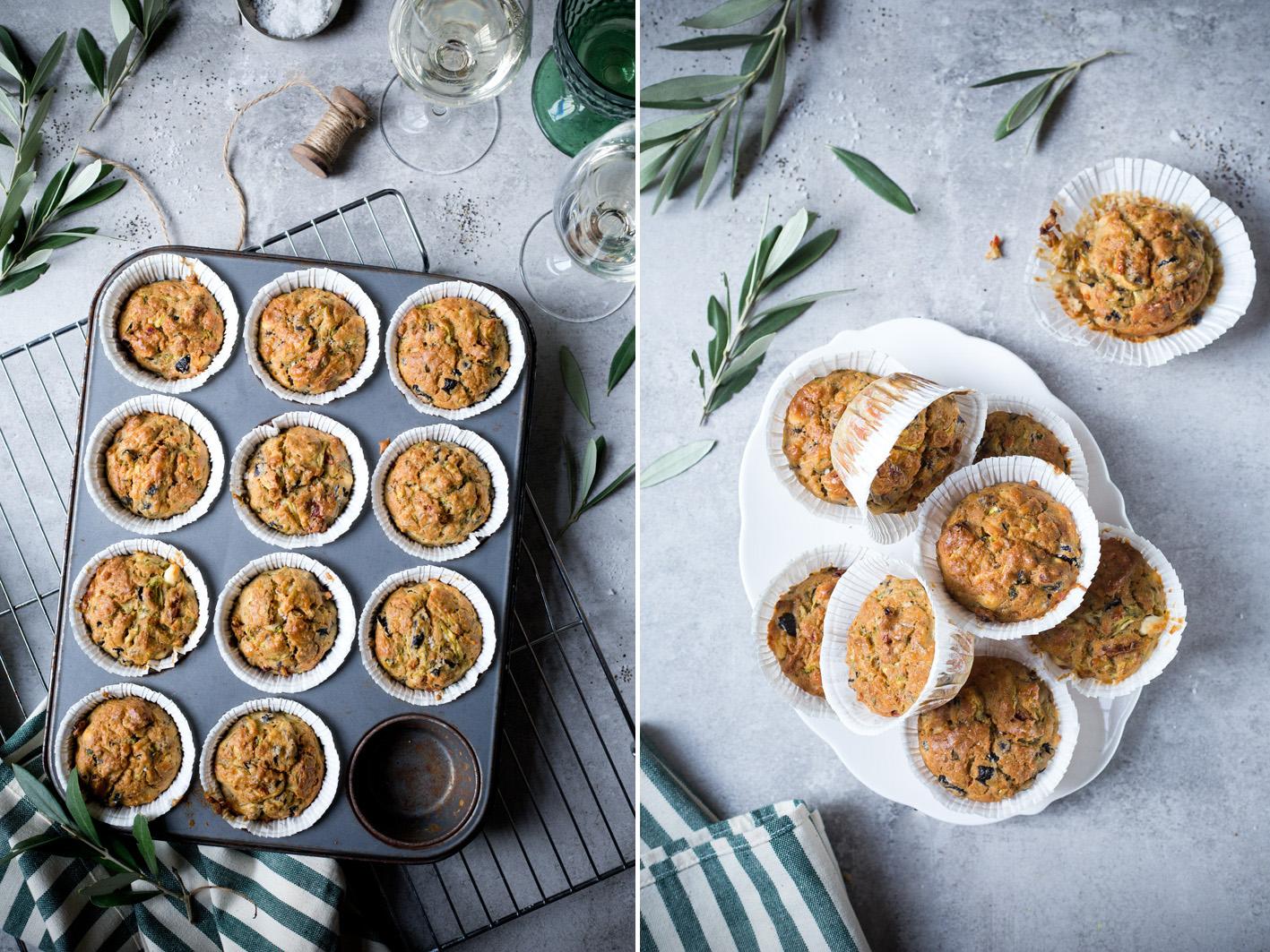 Herzhafte Muffins mit Oliven