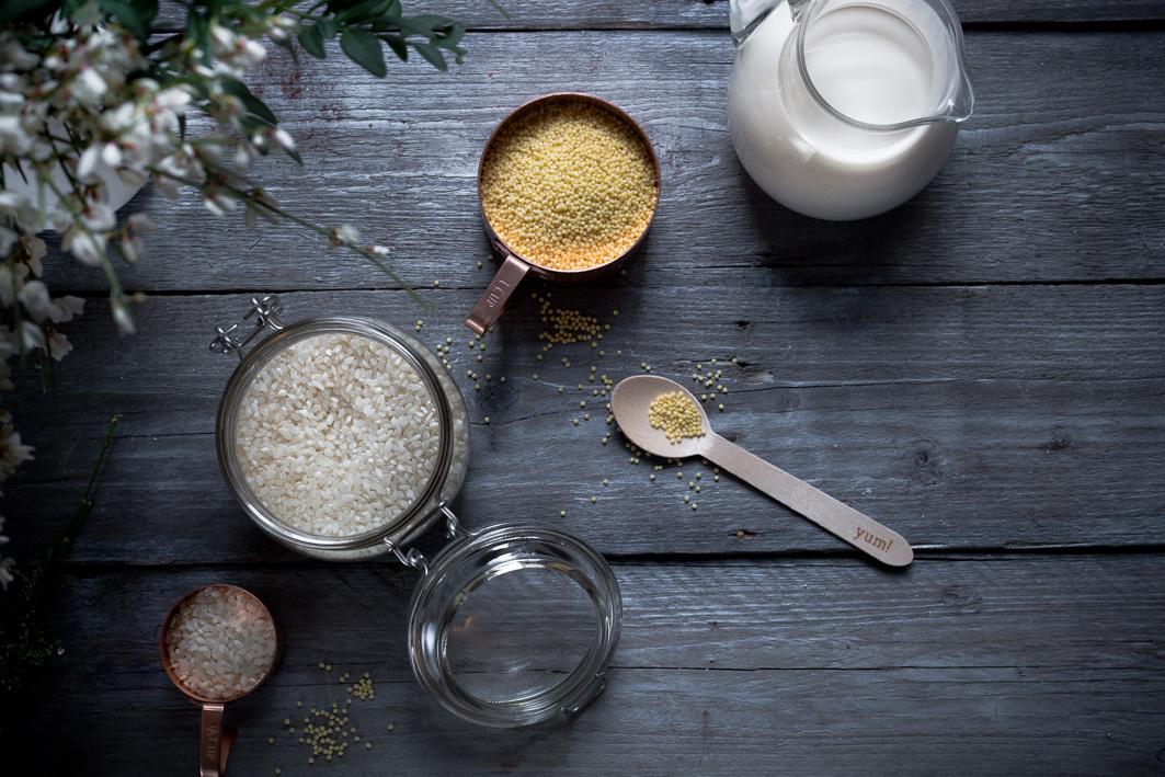 Hirse und Reis