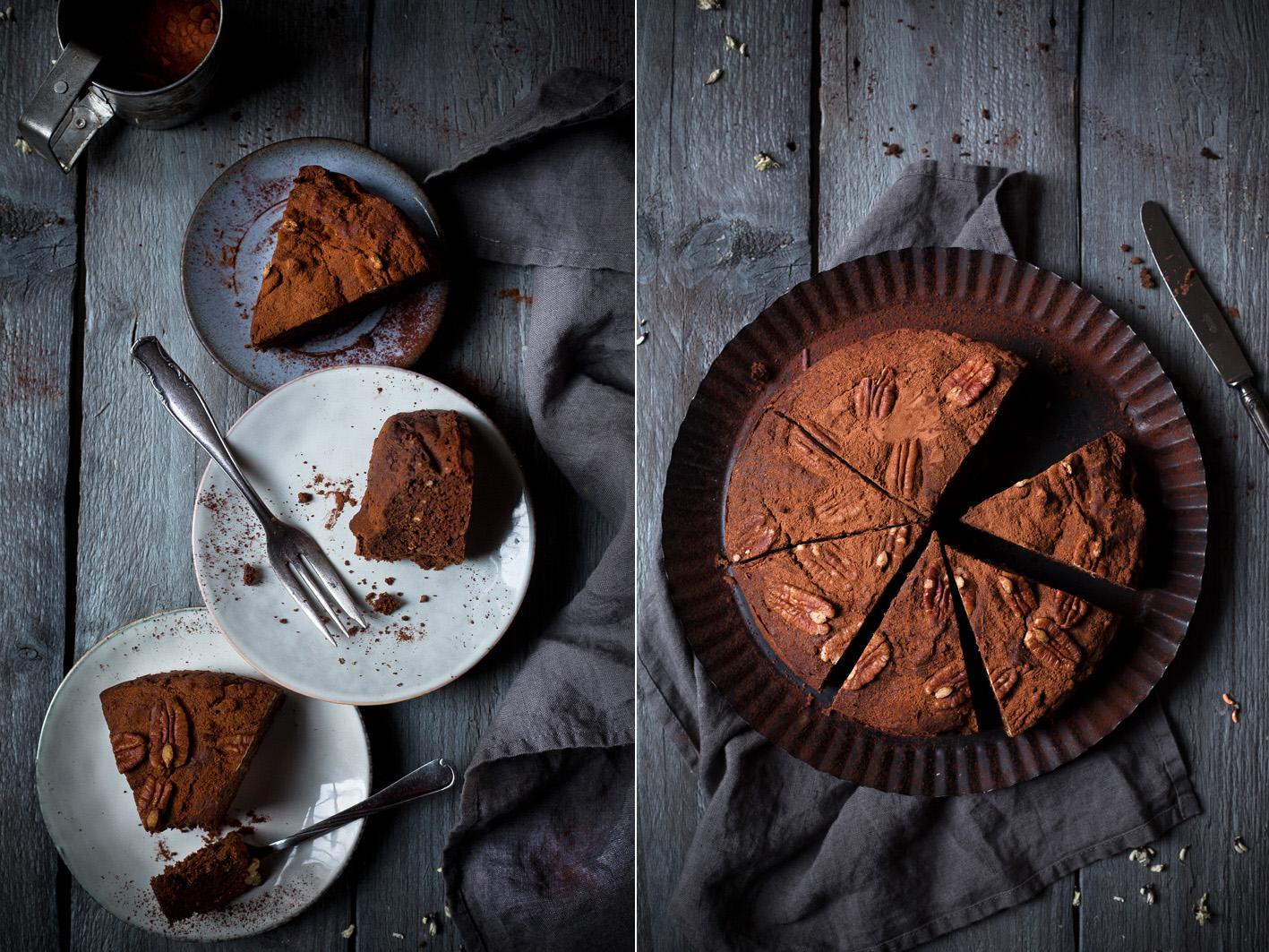 Schokoladen Dattel Kuchen ohne Zucker