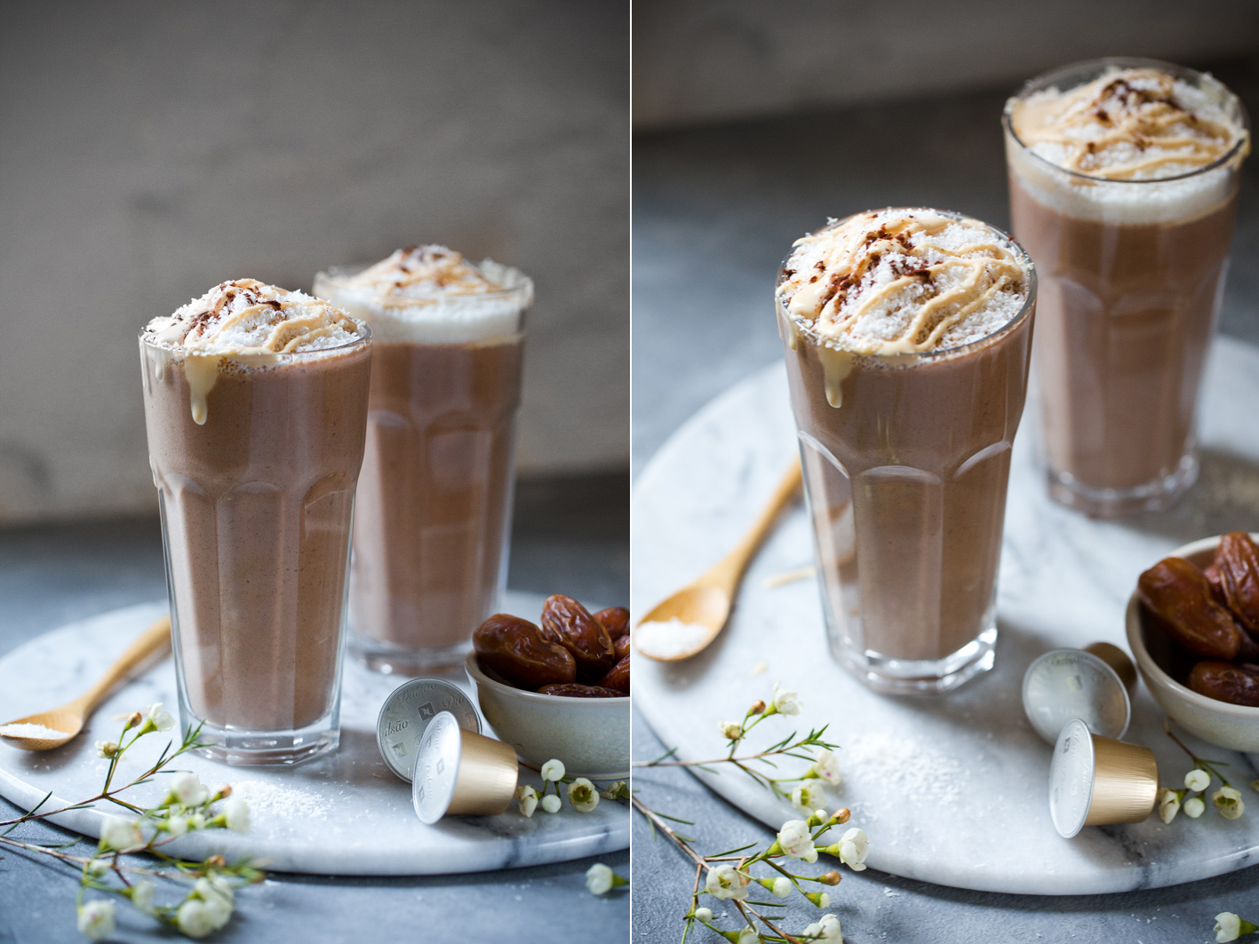 Wachmacher Smoothie mit Kaffee