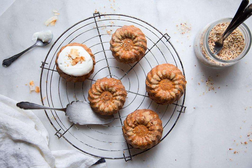 Kleine gesunde Möhrenkuchen