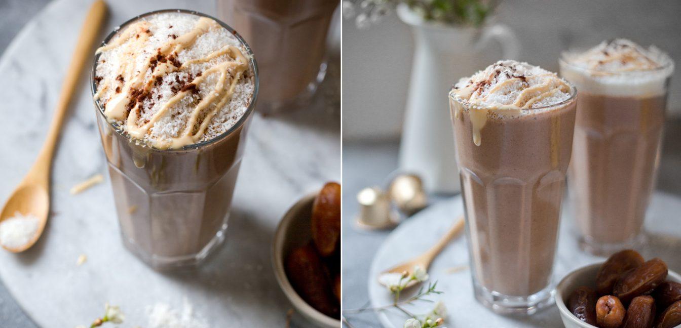 Wachmacher Smoothie mit Kaffee.