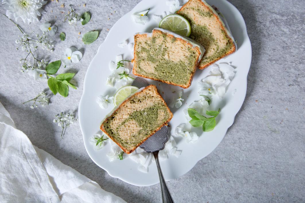 Marmorkuchen mit Matcha