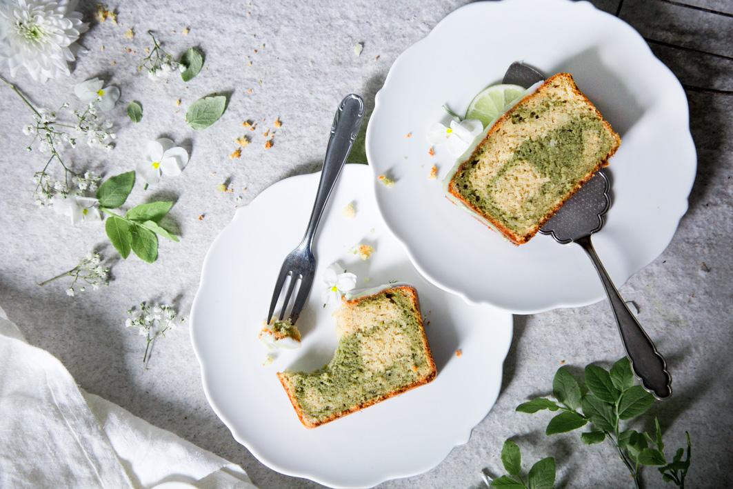 Matcha-Marmorkuchen glutenfrei