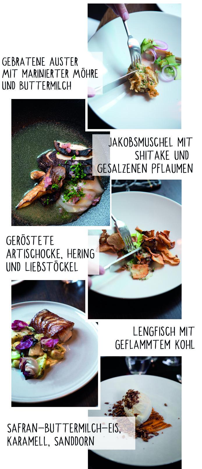 Menü im Restaurant Lysverket