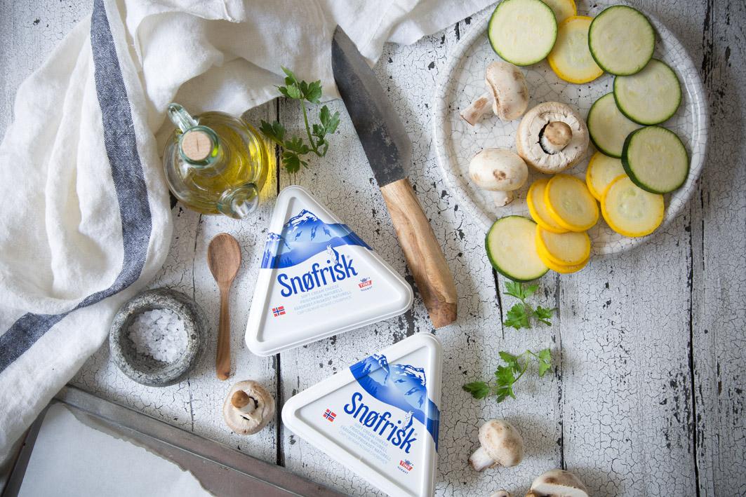 Zutaten für Zucchini Flammkuchen