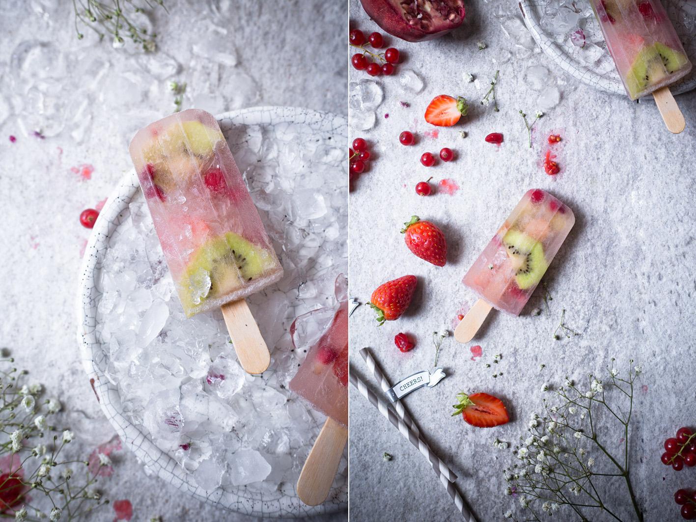 Champagner Eis Popsicles